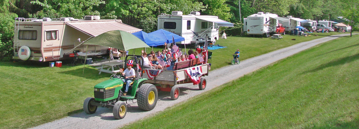 Fourth of July Wagon Ride at Lebanon Reservoir Campground